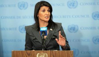نيكي هايلي تهاجم الرئيس الفلسطيني في الأمم المتحدة