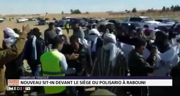 Nouveau sit-in devant le siège du Polisario à Rabouni