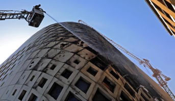 Liban: nouvel incendie éteint dans le centre-ville de Beyrouth
