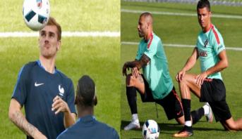 فيديو..يورو 2016..البرتغال وفرنسا يستكملان تحضيراتهما للمحطة الأخيرة للمسابقة