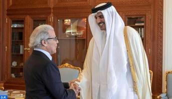 أمير دولة قطر يستقبل والي بنك المغرب عبد اللطيف الجواهري