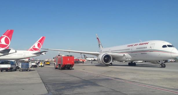 """توضيحات """"الخطوط الملكية المغربية """" حول حادث تصادم بين طائرتين مغربية وتركية بمطار أتاتورك"""