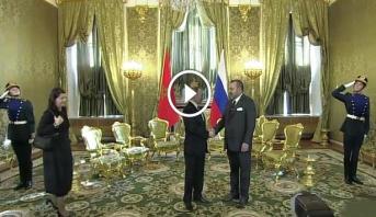 فيديو .. الملك محمد السادس يجري مباحثات مع الرئيس الروسي فلاديمير بوتين