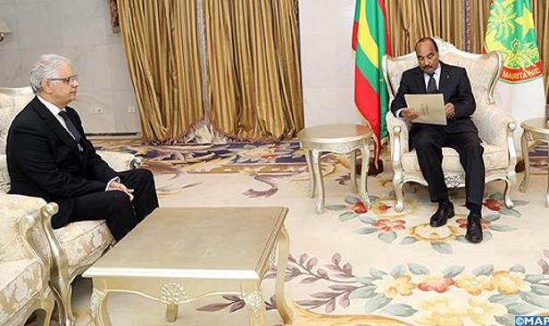 نزار بركة يسلم رسالة خطية من الملك محمد السادس إلى الرئيس الموريتاني
