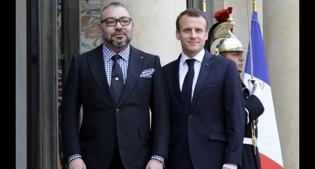 نتيجة بحث الصور عن محمد السادس و الرئيس الفرنسي