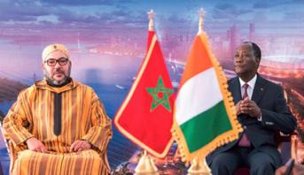 الملك محمد السادس يهنىء الحسن درامان واتارا بمناسبة إعادة انتخابه رئيسا لجمهورية كوت ديفوار