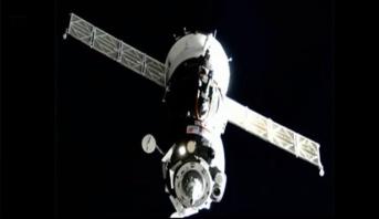 """التحام المركبة الفضائية الروسية المأهولة """"سويوز إم إس-12"""" بنجاح بمحطة الفضاء الدولية"""
