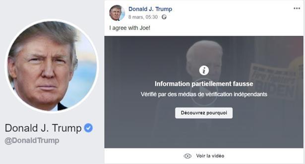 """""""فيديو خاطئ"""" عن جو بايدن شاركه ترامب .. """"فيسبوك"""" و""""تويتر"""" تتخذان تدابير"""