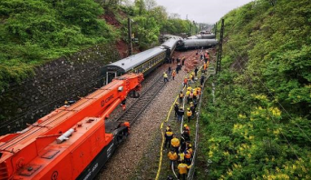 Un mort et 127 blessés suite au déraillement d'un train en Chine