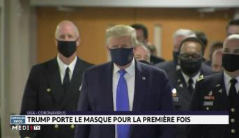USA: Trump porte le masque pour la première fois