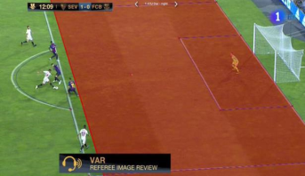 """ملعب ابن بطوطة يشهد أول استعمال لتقنية """"الفار"""" في كرة القدم الإسبانية"""