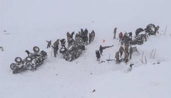 ارتفاع ضحايا الانهيارات الثلجية شرق تركيا إلى 41 قتيلا