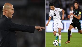 زيدان يتحدث عن خطورة بوصوفة خلال مباراة الريال والجزيرة في مونديال الأندية