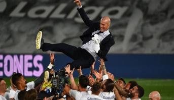 البطل العائد زيدان يفي بوعده بقيادة ريال للقب الليغا