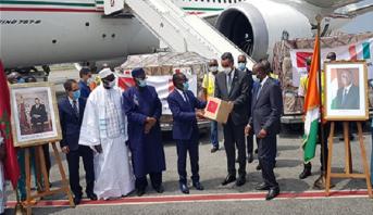 Covid-19: arrivée à Abidjan de l'aide médicale marocaine destinée à la Côte d'Ivoire