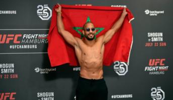 """أبو زعيتر يفوز بأول نزال له في منظمة """"UFC"""""""