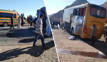 مصر.. 6 قتلى بينهم أجانب في حادث اصطدام بين حافلتين وشاحنة