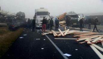 ارتباك في حركة السير بين مراكش والبيضاء إثر حادث سير خطير