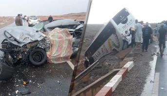 حادث سير خطير في منعرج بين ورززات وسكورة