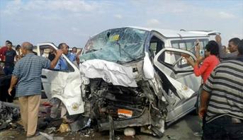 مصرع تسعة أشخاص في حادثة سير بالطريق الصحراوي الشرقي جنوب مصر