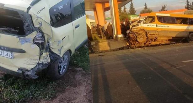 إصابة 17 تلميذا بجروح خفيفة في حادث سير بإقليم سطات