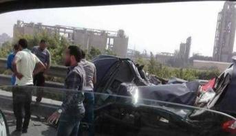 مصرع 14 شخصا في حادثة سير جنوب القاهرة
