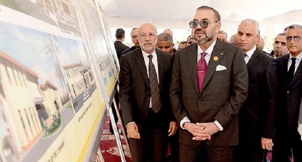 """Le Roi lance les travaux de construction d'un """"CMP-Fondation Mohammed V pour la Solidarité"""" à Fès"""