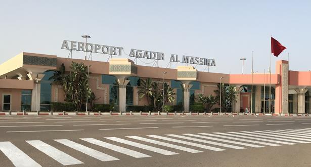 مطار أكادير المسيرة يستقبل أزيد من 120 ألف مسافر دولي ما بين 15 يونيو و31 غشت 2021