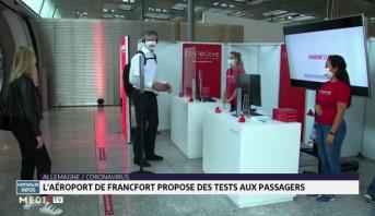 Allemagne: l'aéroport de Francfort propose des tests aux passagers