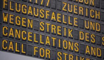 إلغاء مئات الرحلات بسبب إضراب في مطارات ألمانيا