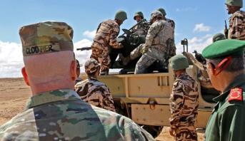"""""""الأسد الإفريقي 2021 """" .. ملاحظون عسكريون من حوالي 13 دولة يتابعون تداريب ميدانية بكاب درعة"""