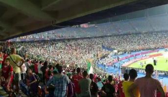 """فيديو .. أجواء الفرحة بعد تأهل """"الخضر"""" من قلب ملعب القاهرة"""