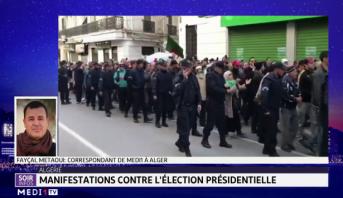 Algérie: manifestations contre l'élection présidentielle