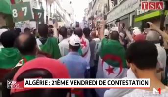 Algérie: 21ème vendredi de contestation