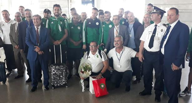 بعثة المنتخب الجزائري للاعبين المحليين تصل إلى المغرب