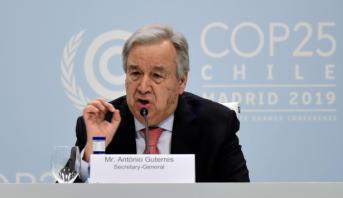"""COP25: Guterres plaide pour un """"accord ambitieux et concret"""" sur le climat"""