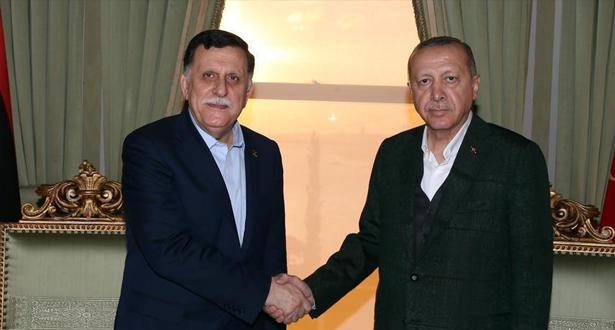 أردوغان والسراج يبحثان بإسطنبول مستجدات الأوضاع في ليبيا