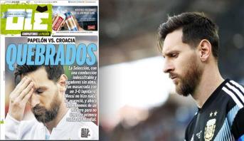 """في الأرجنتين .. ميسي """"المتهم الأول"""" ووسائل الإعلام تتفق على إدانته"""