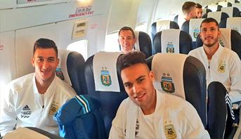 بعثة المنتخب الأرجنتيني تتوجه إلى طنجة