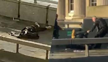 فيديو .. إطلاق نار وتوقيف شخص إثر عملية طعن فوق جسر لندن
