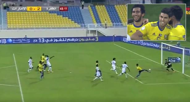 أمين العطوشي يسجل أول أهدافه في الإمارات بطريقة رائعة