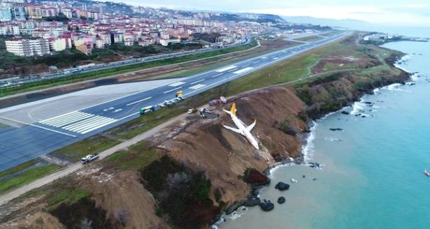 تركيا.. انزلاق طائرة ركاب أثناء هبوطها في مطار طرابزون