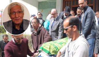 تشييع جنازة الفنان الراحل عزيز موهوب بمقبرة سيدي مسعود بالرباط