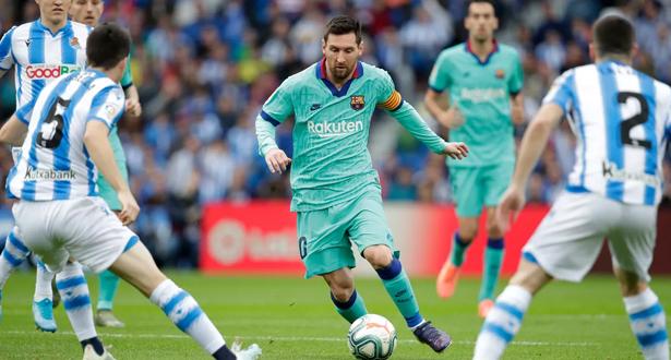 برشلونة يسقط في فخ التعادل أمام سوسيداد