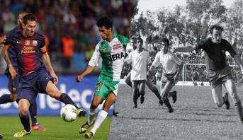 فريق برشلونة يستعيد ذكريات مبارياته في المغرب