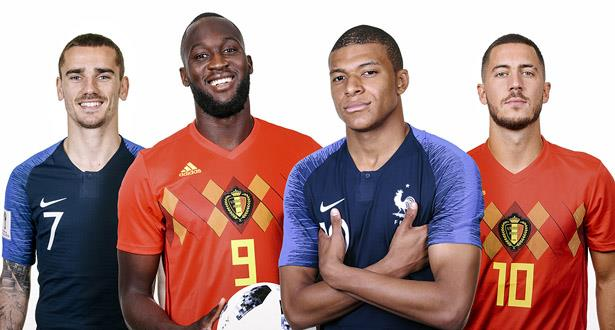 رسميا .. تشكيلتا بلجيكا وفرنسا لنصف نهائي المونديال