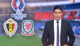 """فيديو .. المنتخب البلجيكي يصطدم بنظيره الويلزي في ربع نهائي """"أورو2016"""""""