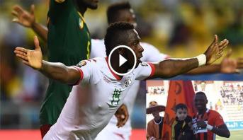 """فيديو .. لاعب نهضة بركان يهدي التعادل لبروكينافاسو في """"الكان"""""""