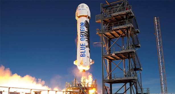 رحلة تجريبية ناجحة لصاروخ (بلو أوريجين) المعد للسياحة الفضائية