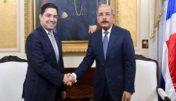رئيس جمهورية الدومينيكان يستقبل بوريطة حاملا رسالة شفوية من الملك محمد السادس